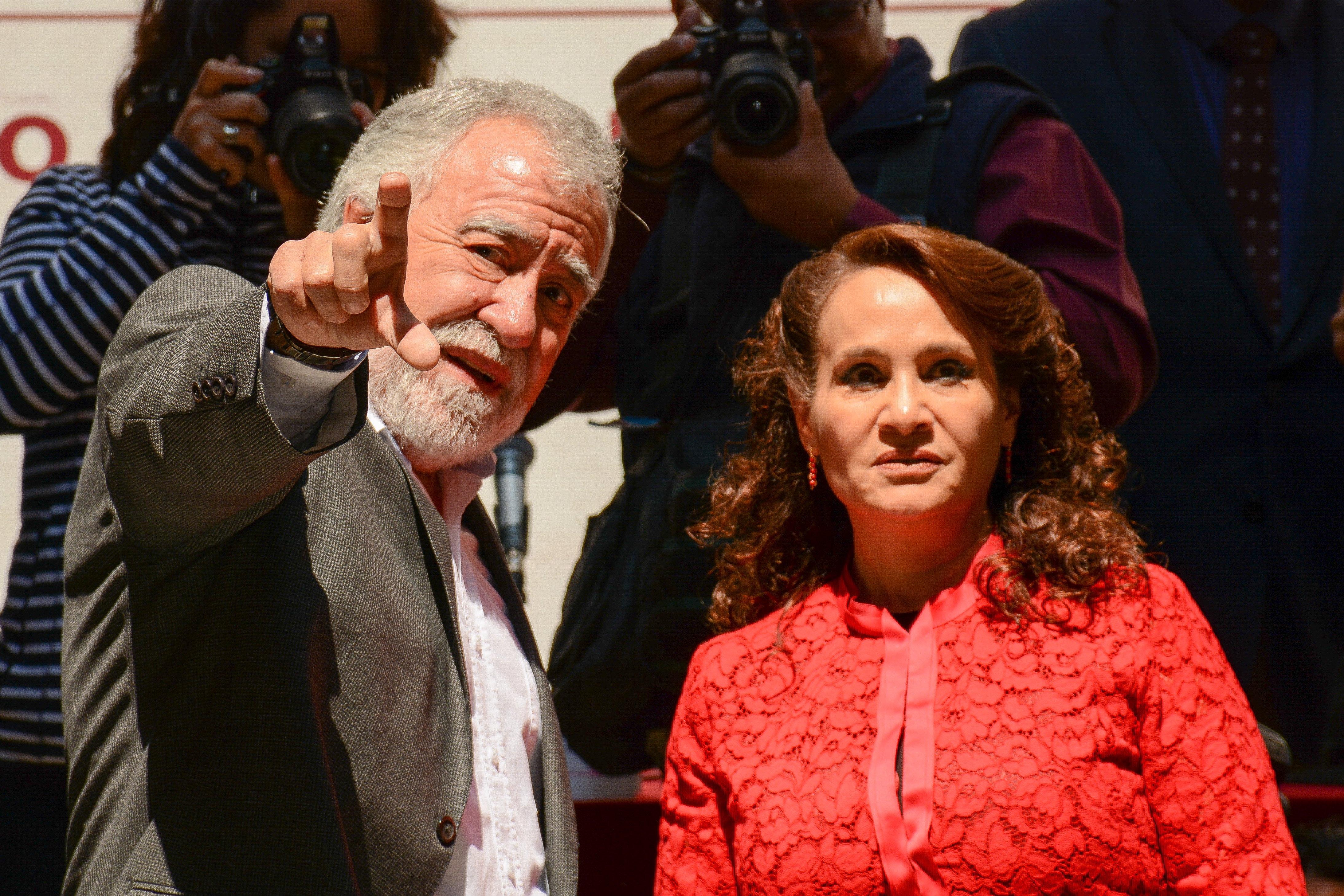Alejandro Encinas Rodríguez y Dolores Padierna. @Cuartoscuro.com