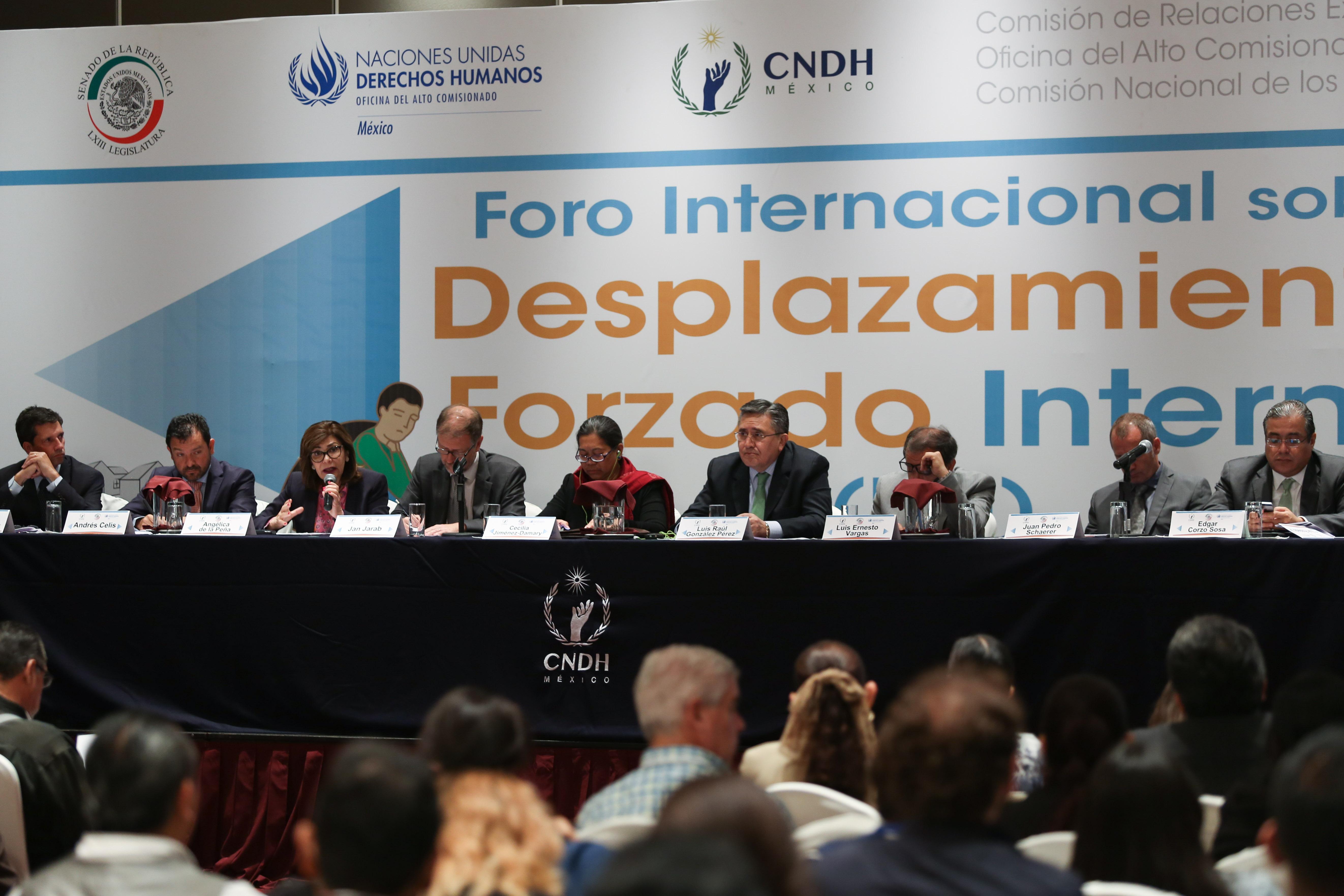 Foro Internacional sobre Desplazamiento Forzado. @Cuartoscuro.com