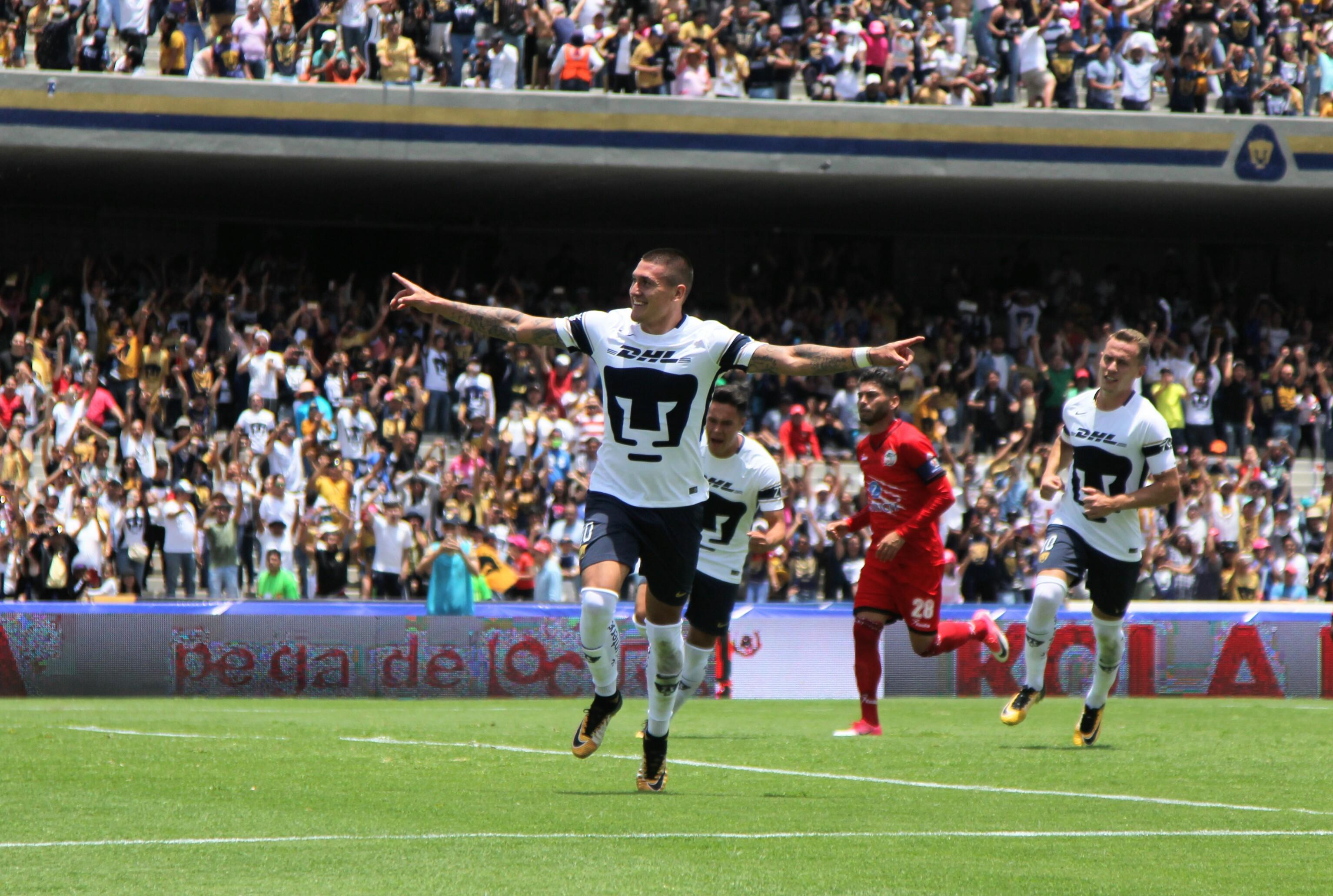 Los Pumas de la Universidad Nacional se impusieron dos a cero contra Lobos BUAP en el Olímpico Universitario. Niko Castillo fue el autor de ambos tantos. @Cuartoscuro.com