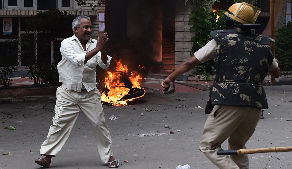 Seguidores del gurú Ram Rahim causaron graves disturbios en la India