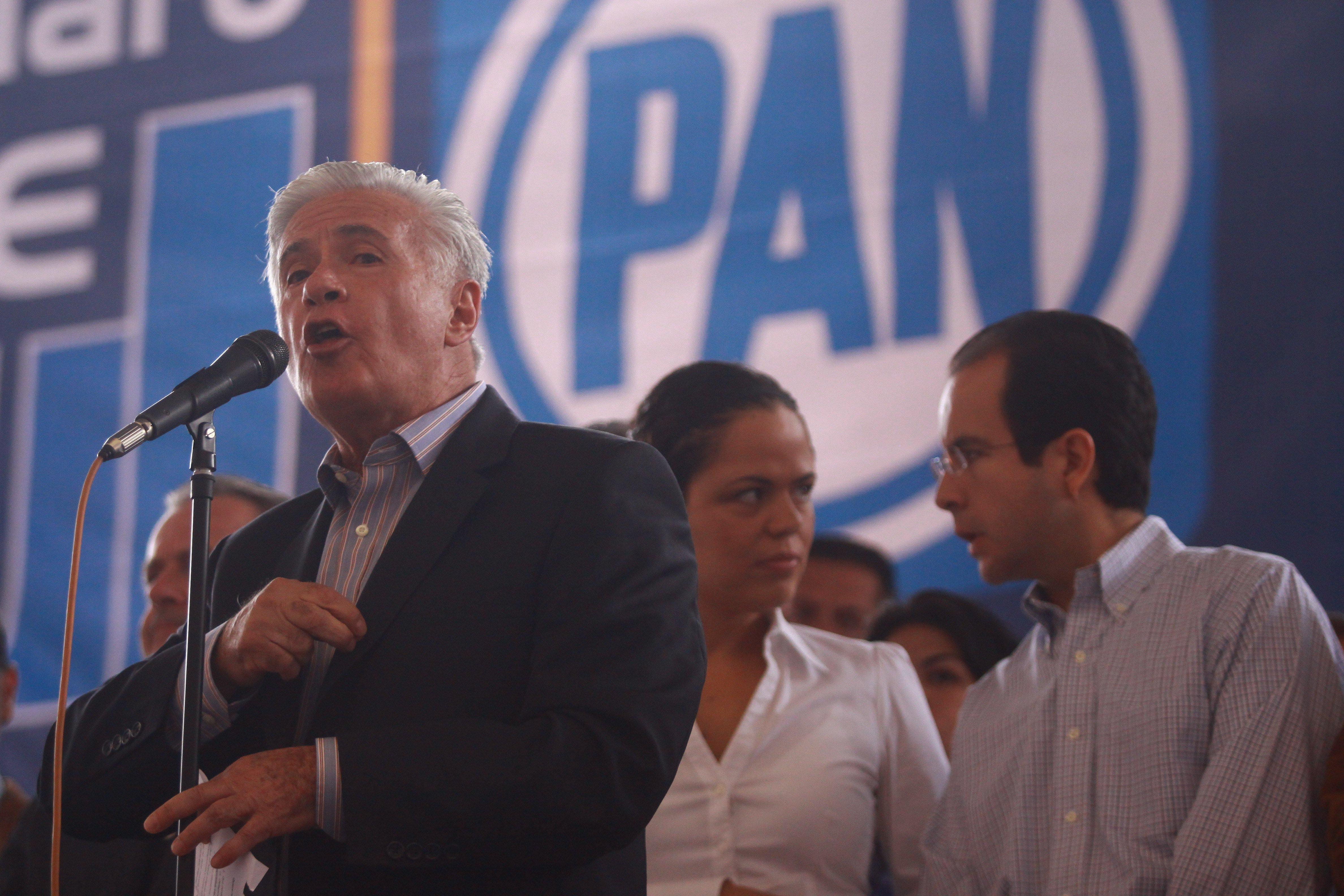 Demetrio Sodi cuando era militante del PAN. CUARTOSCURO.
