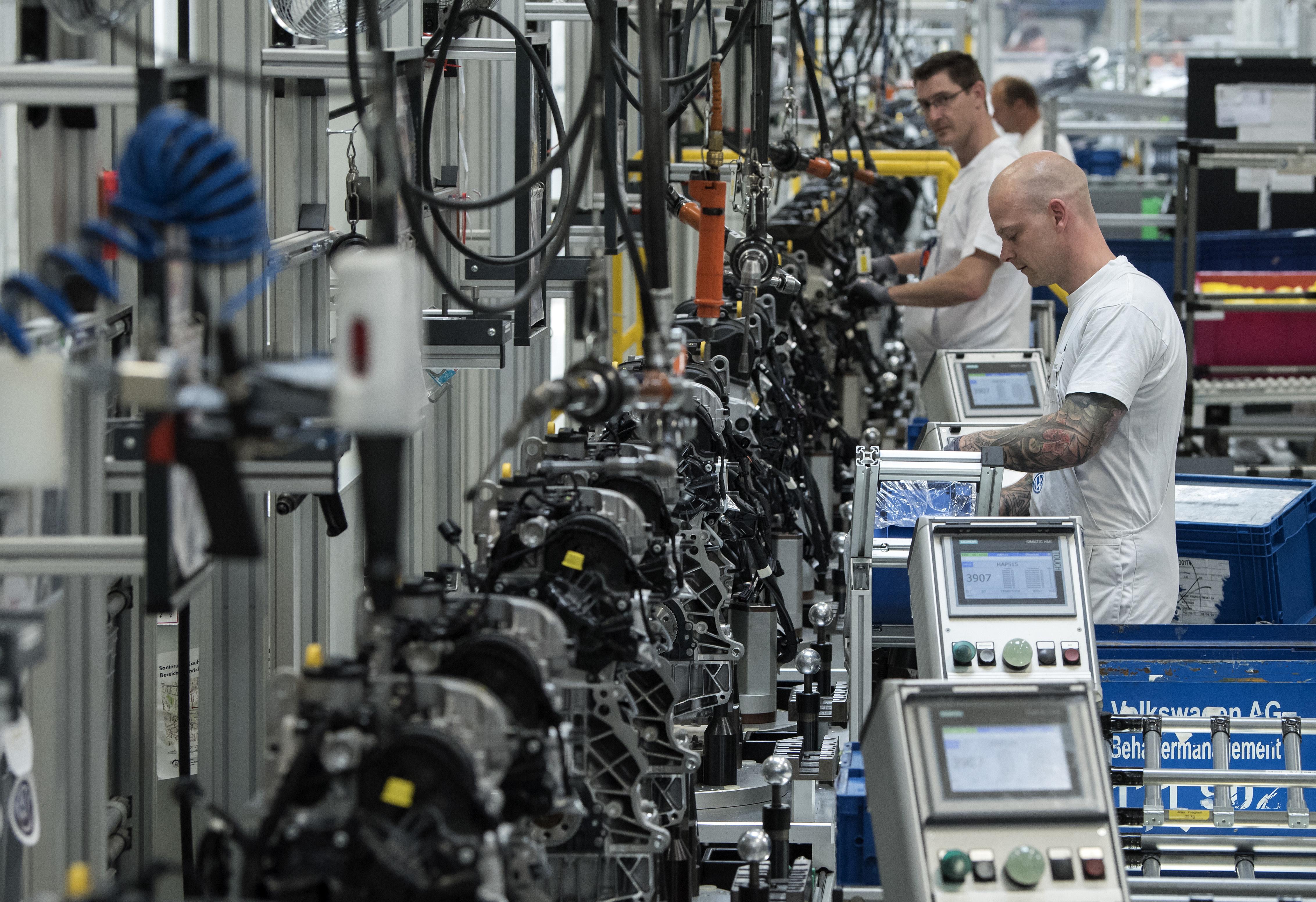 Línea de ensamblaje de VW. @AP