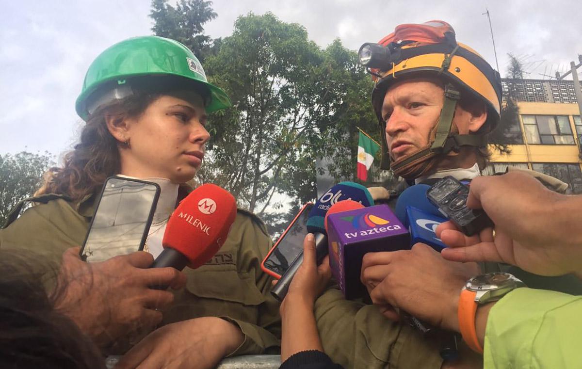 Adam Maler, jefe de rescatistas de la delegación israelí confirmó que las labores de rescate continúan en el Multifamiliar de Tlalpan
