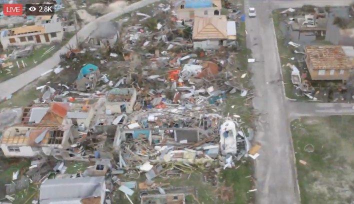 Imágenes de Barbuda tras el paso de Irma. FOTO: @safetypindaily