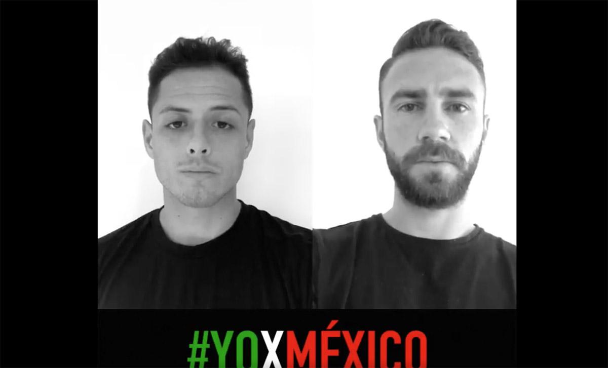 Javier Hernández y Miguel Layún difunden video para pedir donaciones para los damnificados del terremoto.