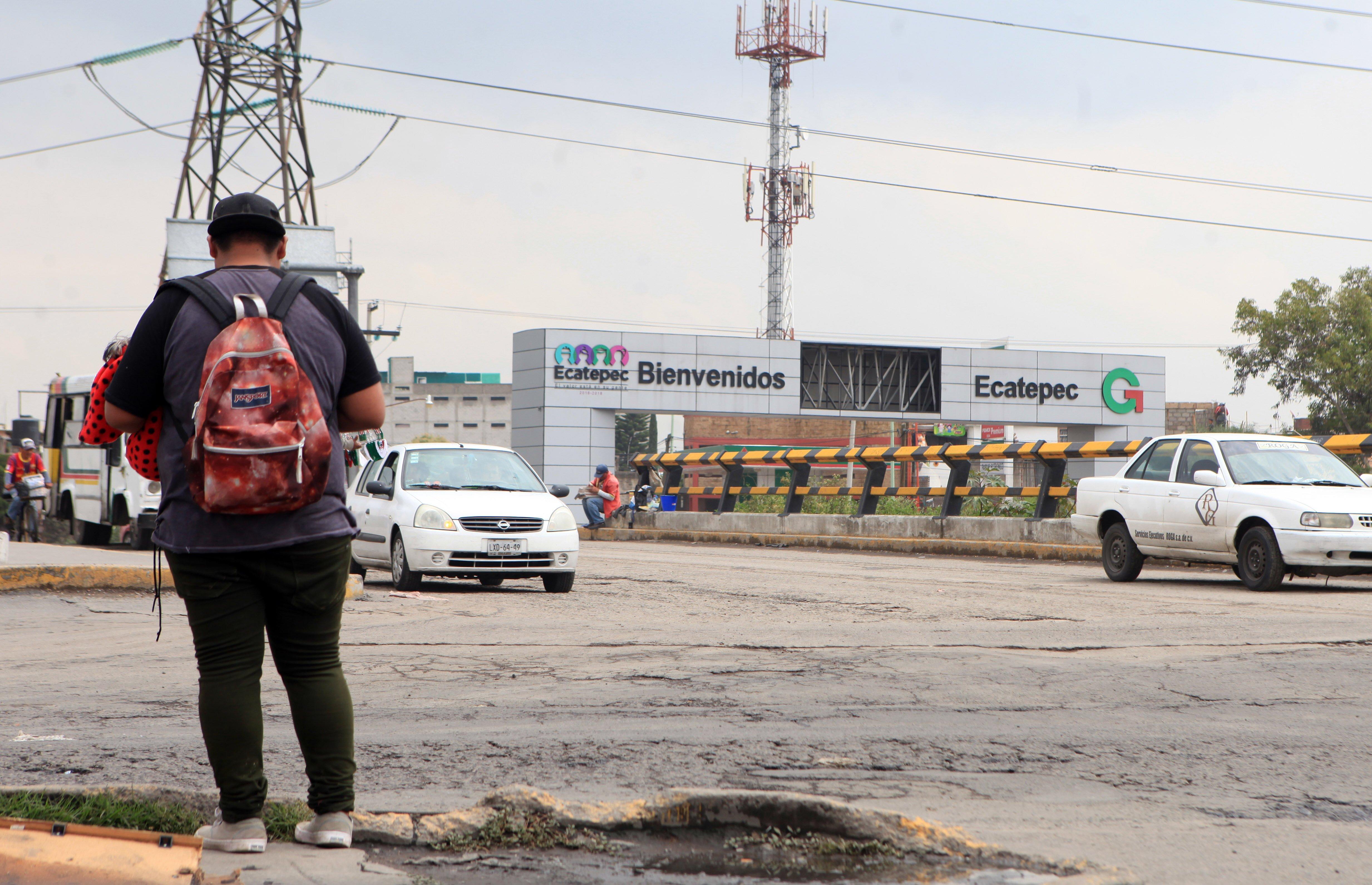 Límite Ecatepec GAM. Foto Yadira García.