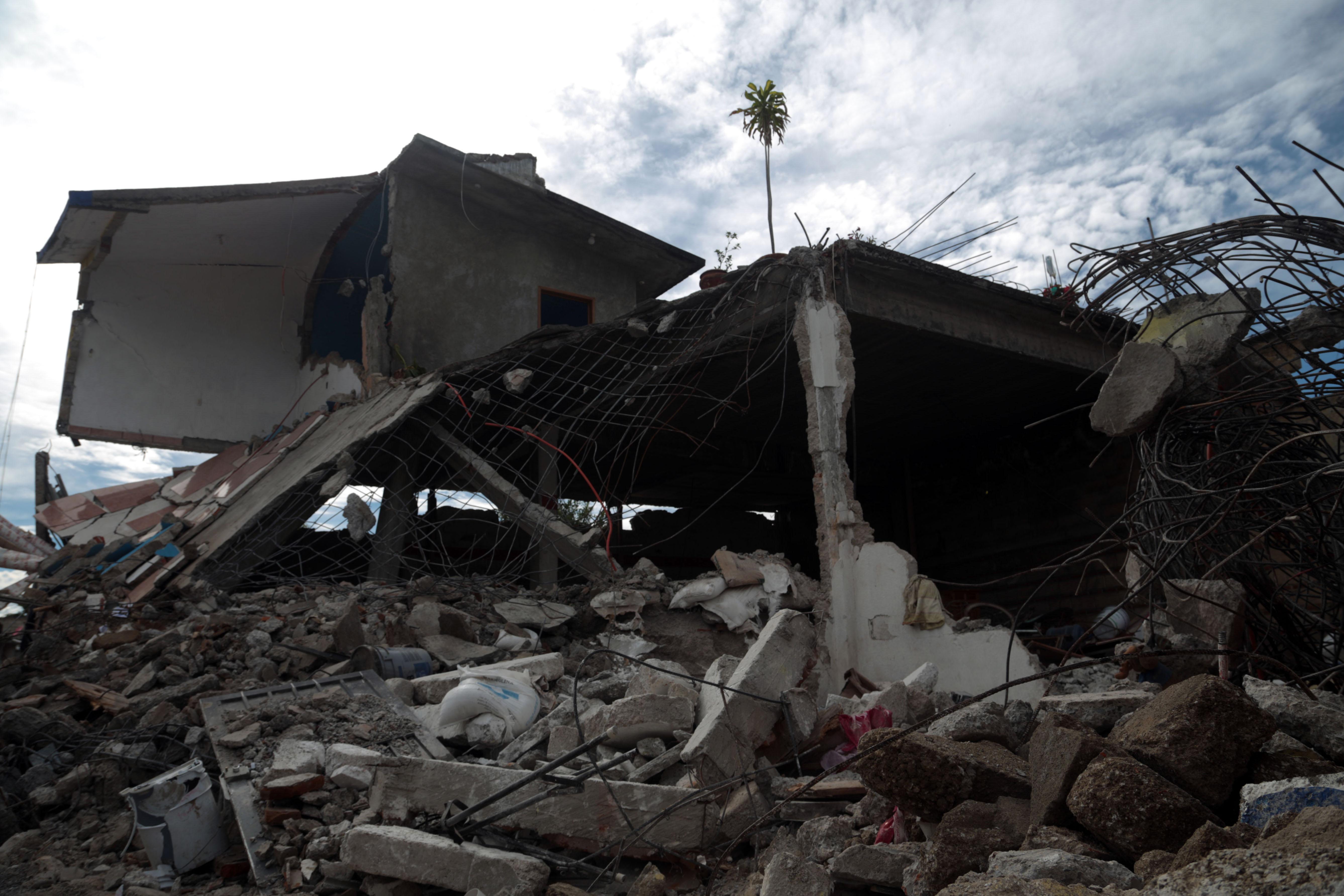 Daños a casas por sismo. @Cuartoscuro.com