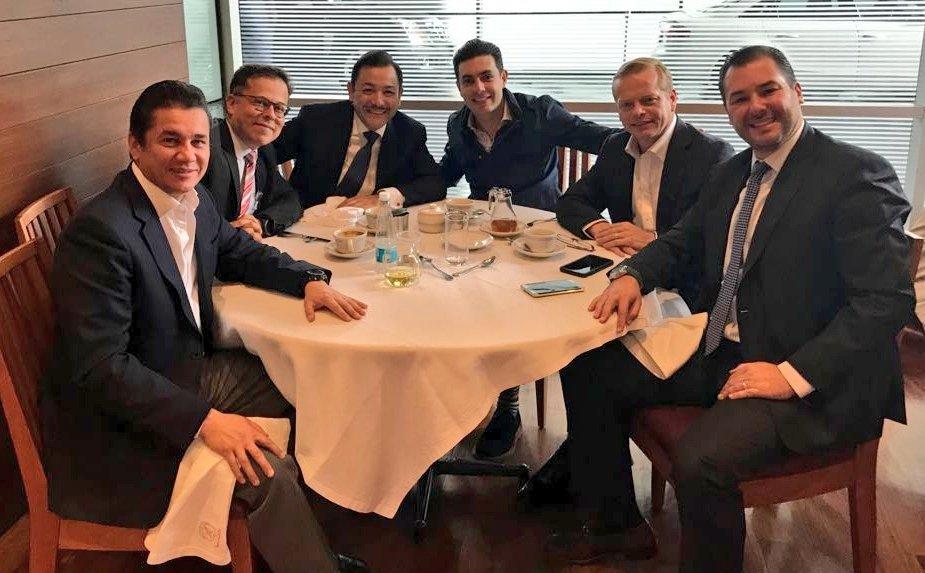 Jesús Sesma, Arturo Escobar, Carlos Madrazo, Carlos Puente y Xavier López Adame