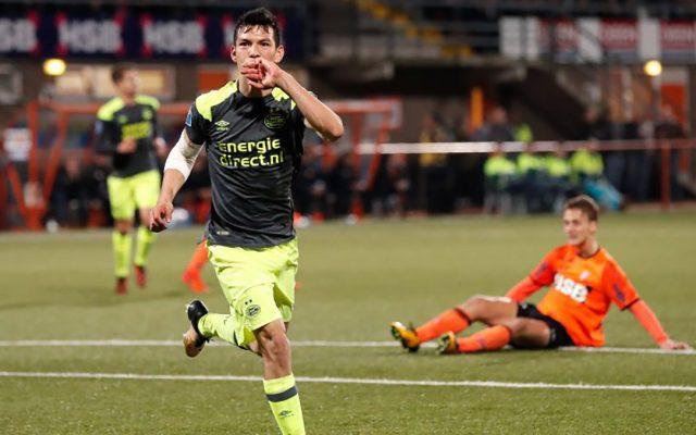 Con gol del mexicano Hirving Chucky Lozano, el PSV Eindhoven eliminó en tiempo extra al Volendam para avanzar en la Copa de Holanda