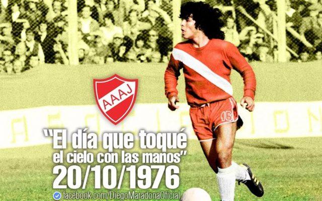 El 20 de octubre de 1976, Argentinos Juniors debutaba en Primera División a una joven promesa que se convertiría en el D10S del fútbol