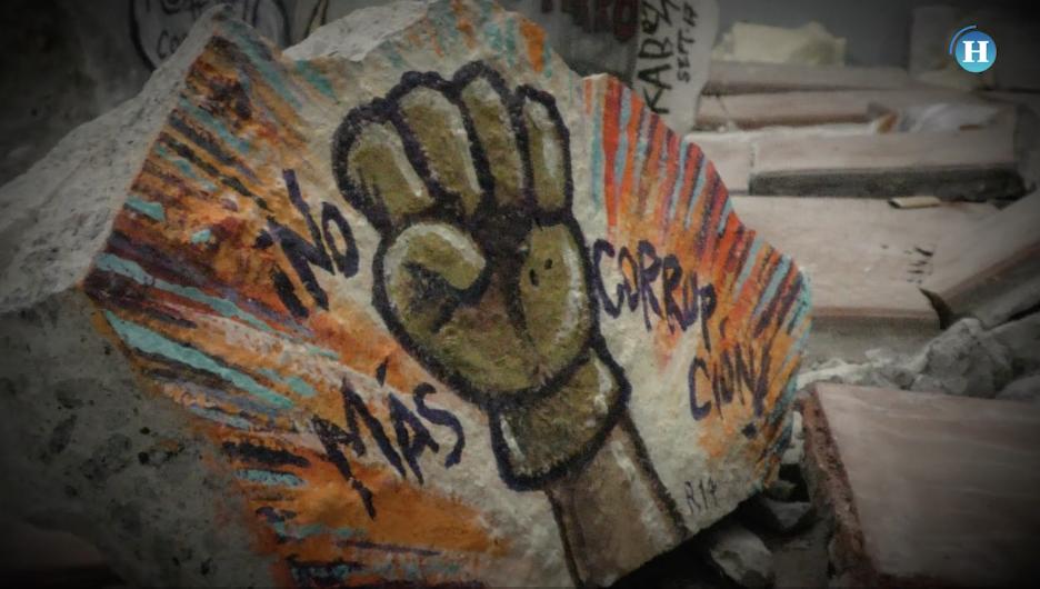 Caricaturistas pintan escombros del 19S