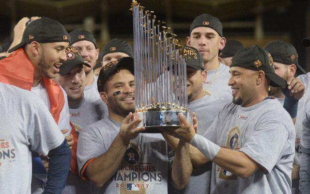 Los Astros de Houston se coronaron Campeones de la Serie Mundial de las Grandes Ligas por primera vez en su historia. Aquí las imágenes de la victoria en el séptimo juego