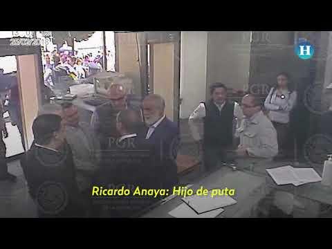 VIDEO: Ricardo Anaya en PGR insulta a fiscal antilavado