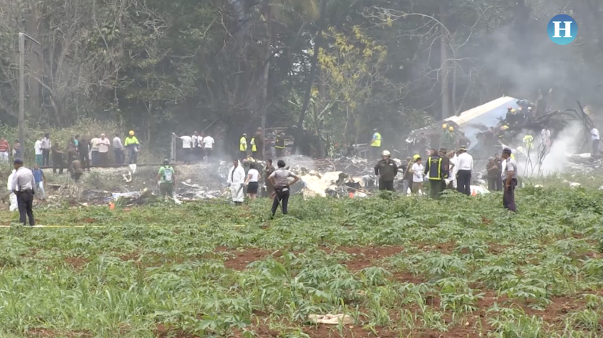 Cinco tripulantes de avión accidentado en Cuba eran mexicanos
