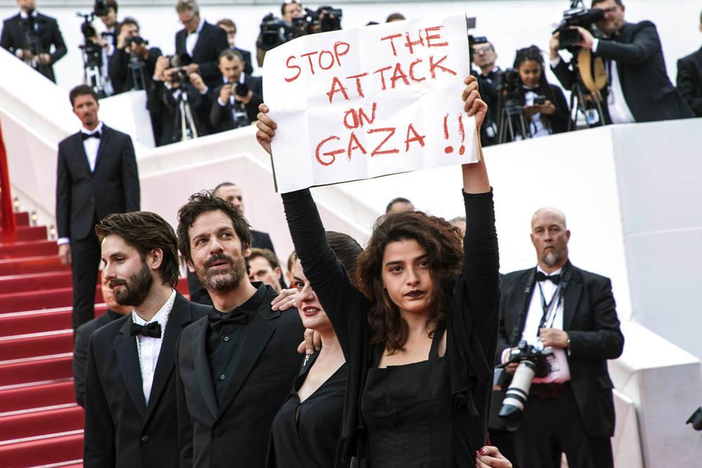 PROTESTA. En Cannes, en la premier de Solo: Una historia de Star Wars, la actriz Manal Issa pidió parar la violencia. Foto: AP