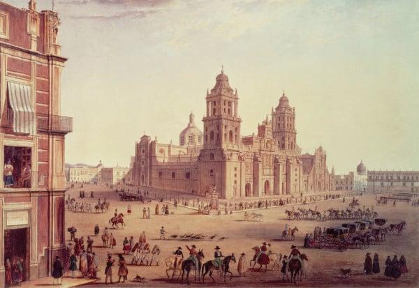 FOTO: Zócalo de la Ciudad de México, Siglo XIX