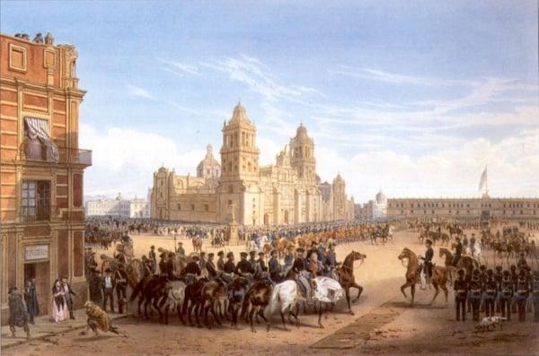 FOTO: Entrada del Ejército Invasor a la Ciudad de México, 1848