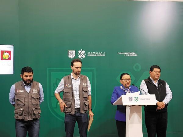 BLOQUEOS. Rosa Icela Rodríguez, secretaria de Gobierno de la Ciudad de México, recomendó tomar precauciones. Foto: Lizeth Gómez de Anda