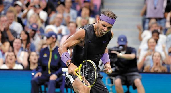 IMPARABLE. Nadal perdió un set, pero después recompuso el camino en la Gran Manzana. Foto: AP