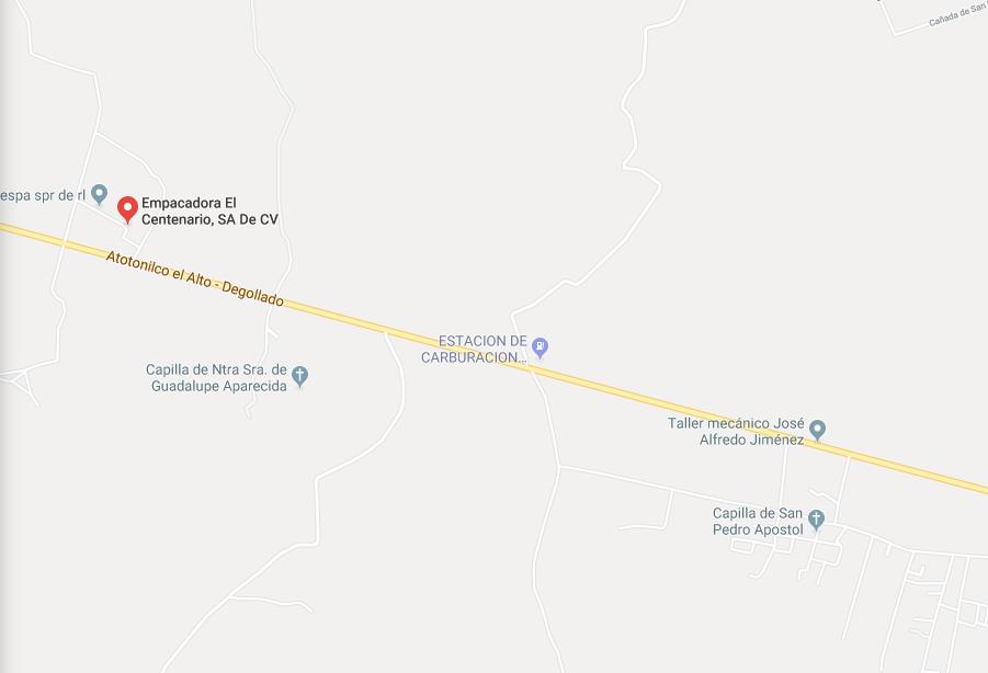 Narcobloqueos en Guadalajara. Foto: captura de pantalla Google Maps.