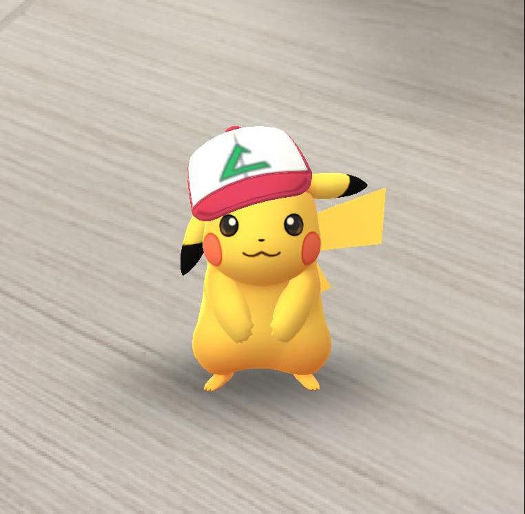 Pikachu con gorra en Pokémon GO!